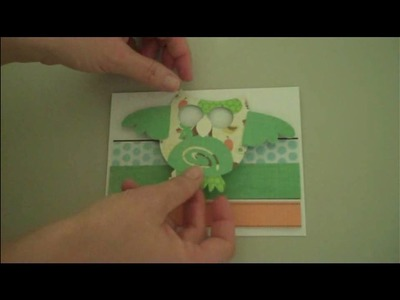 Little Sprout Owl Card with the Straight From The Nest Cricut Cartridge
