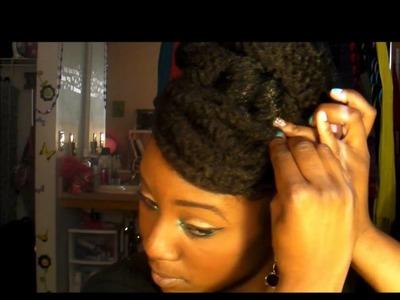 Natural Hair (Protective Style): Faux bun and Faux bang tutorial :)