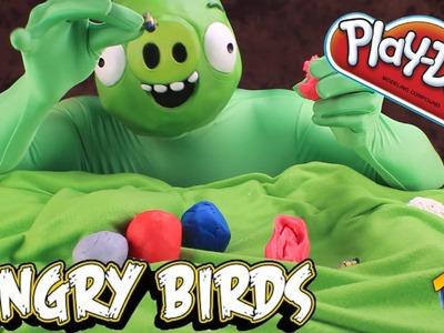 ⚉ Play-Doh Angry Birds Eggs ⚉ Opened by a Bad PIGGIE! | ThatCrazyFamily