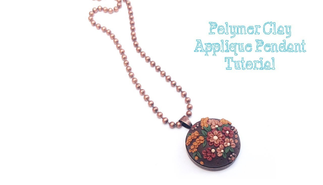 Polymer Clay Applique Tutorial - How To Make A Unique Fall Boho Pendant