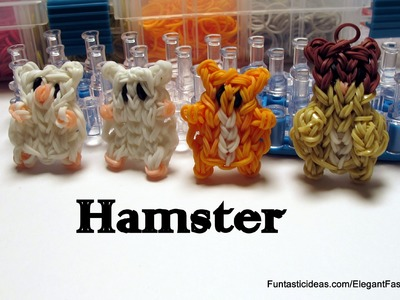 Rainbow Loom Hamster charm - How to - Animal Series