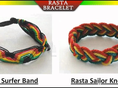 Rasta Friendship Rope Bracelet