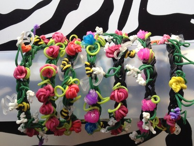 Rosebud Bracelet On Rainbow Loom