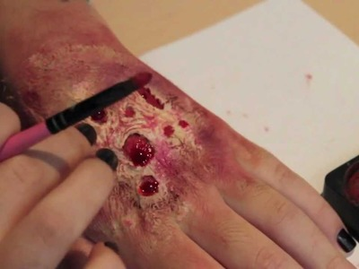 Rotting Flesh. Zombie Skin Makeup (So easy you can do it with no brains.  get it?)