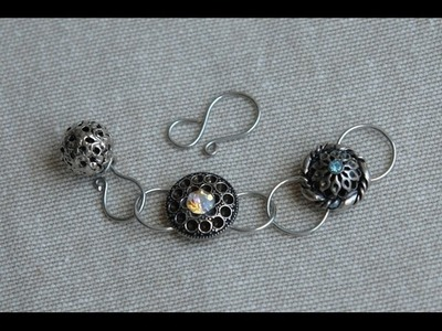 Sidonia's handmade jewelry - Button Clasp Tutorial