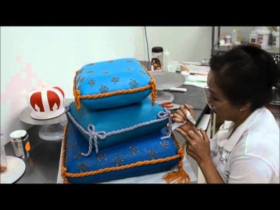 Step by Step decorating Pillow cake - How to Make Princess Pillow Cake