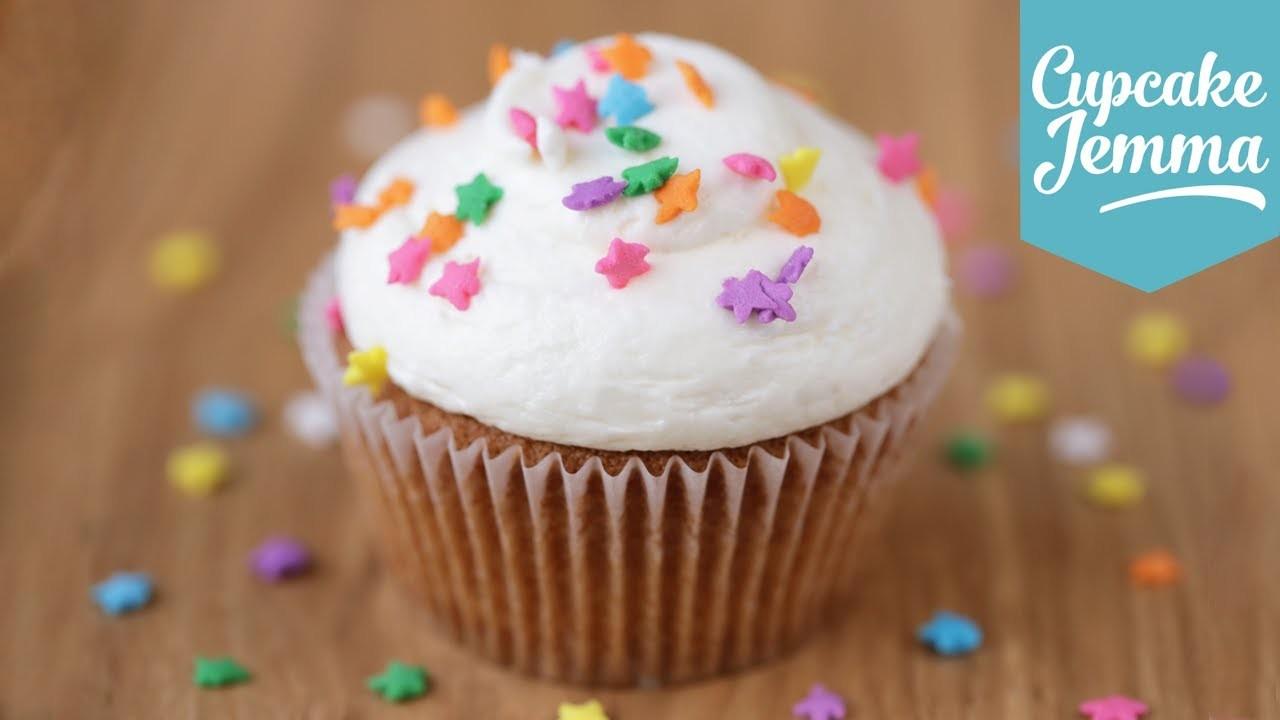 The Perfect Vanilla Cupcake Recipe   Cupcake Jemma