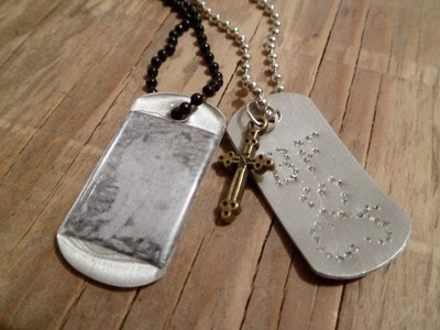 Two Ways to Personalize a Dog Tag Pendant -- Jewelry Making Tutorial