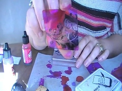 Using Alcohol Inks and creating a resist technique in just 10mins!
