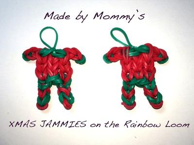 XMAS JAMMIES on the Rainbow Loom - Christmas Pajama Charm!