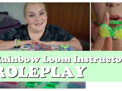 ASMR. Rainbow Loom Instructor Roleplay (elastic bands & tapping sounds)