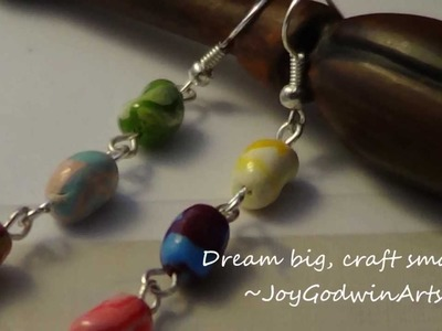 Bertie Botts Every Flavour Beans Earrings DIY {Harry Potter} - Polymer Clay