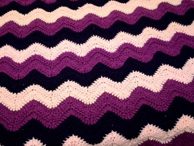 Blanket I made using the ripple.wave stitch