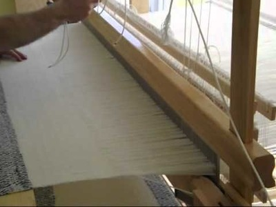 Blanket weaving on a home built vertical countermarch loom