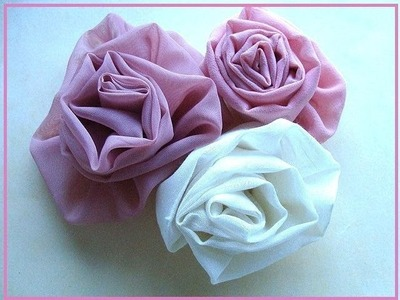 COUTURE FLOWER # 1, carlitto, how to make an easy silky flower