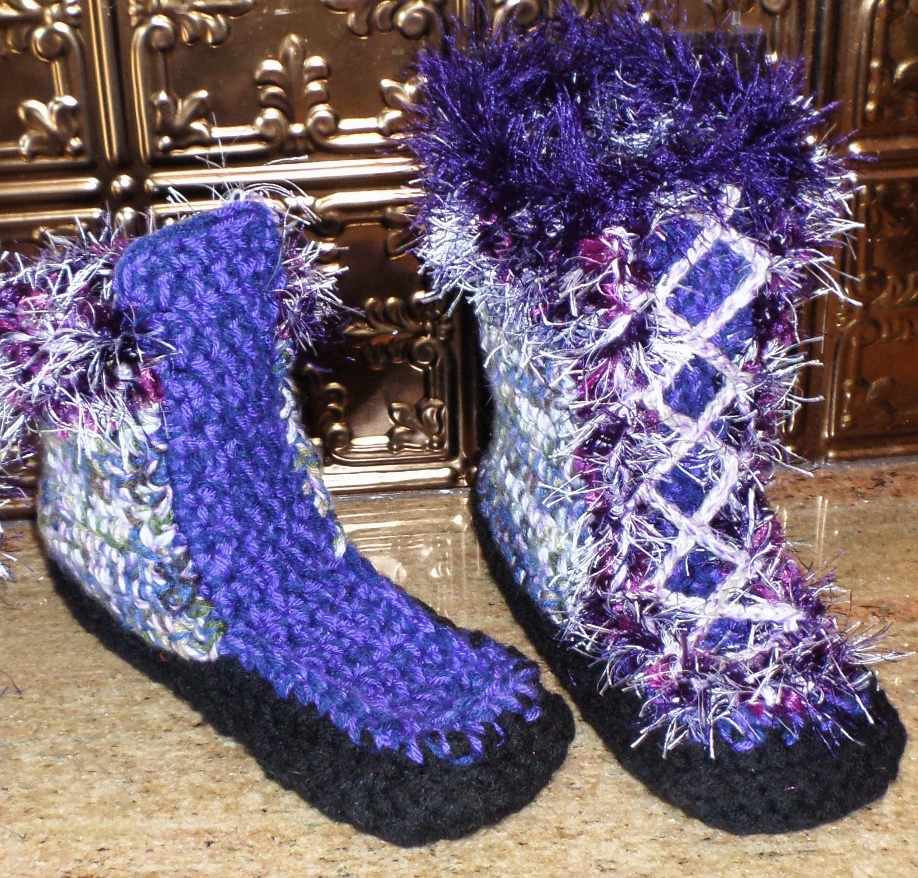 Crcohet Slipper Boot - Step 4 & Finish -