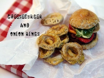 DIY: How To Make a Cheeseburger and Onion Rings With Polymer Clay