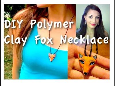 DIY Polymer Clay Fox Necklace || EASY TUTORIAL