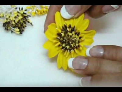DIY: Polymer clay-italian dough Sunflowers. Clay vase arrangment