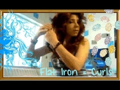 ✔Everyday Hair Tutorial: Curl Hair with a Straightener ✔