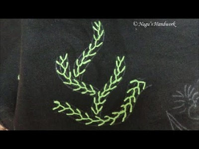 Feather Stitch-Hand Embroidery Tutorial By Nagu's Handwork