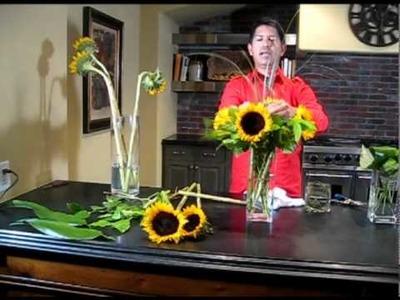 FRESH TEN FILMS: Arranging Sunflowers - Cactus Flower in Scottsdale, AZ