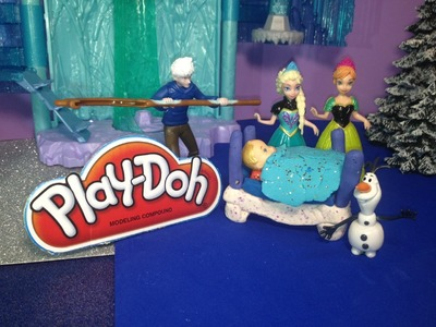 FROZEN PLAY-DOH TUTORIAL How to Make a Play Doh Crib for Queen Elsa Baby