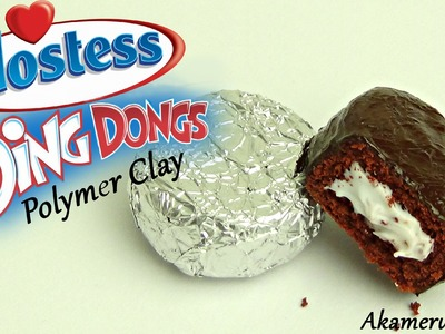 Hostess *Ding Dongs* inspired Polymer Clay Charm Tutorial