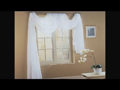 How to Fold a Scarf for Window Decorating : Unique Interior Decorating Ideas
