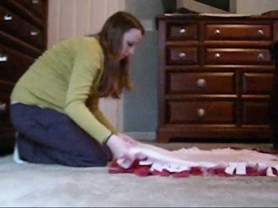 How to make a no-sew fleece blanket!