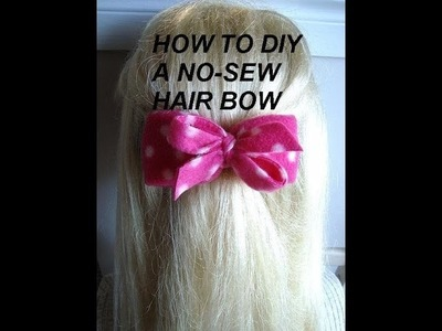 How to make a NO-SEW HAIR BOW, bow tie, barrette, or headband bow