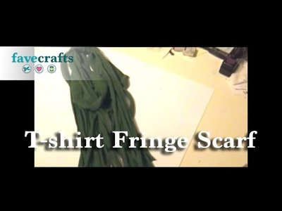 How to Make a T-Shirt Fringe Scarf