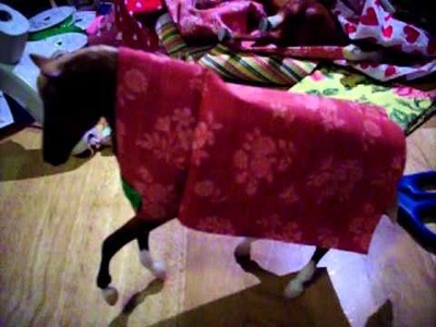 How to make Breyer horse blankets, VERY SIMPLE!!!!