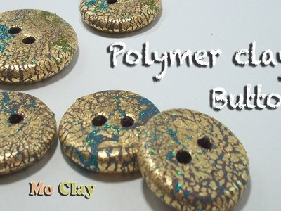 How to make buttons from a Swirl bead - Polymer clay tutorial
