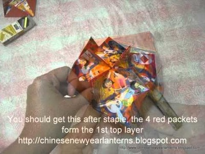 How to make Flower Ball with 12 Red Packets for Chinese New Year