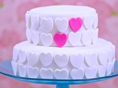 How to Make Marshmallow Fondant & Decorate a Cake: Bridal Shower Collab - Bigger Bolder Baking