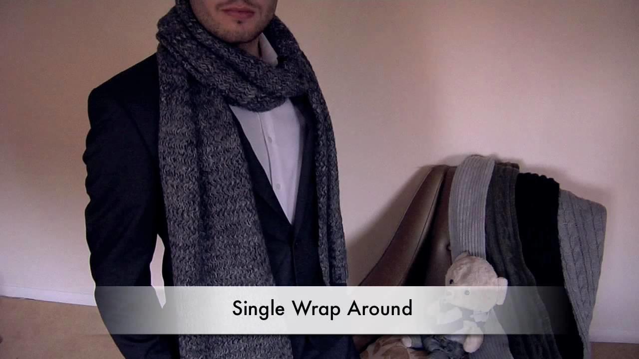 How to Tie a Scarf - Men - Single Wrap Around