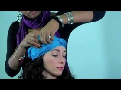How to tie a Turban or Headwrap: Gypsy-girl style