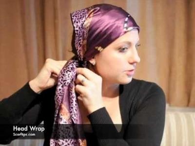 How To Wear A Head Scarf Wrap - www.ScarfTips.com