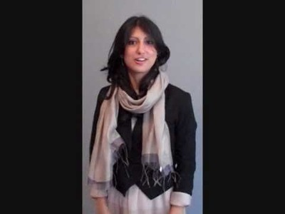How to wear a scarf: Silk and cotton blend scarf