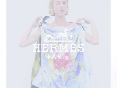 How To Wear An Hermes Scarf As A Top : StyleTribute