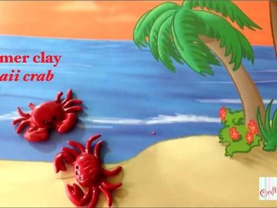 Kawaii crab tutorial! (Polymer clay)