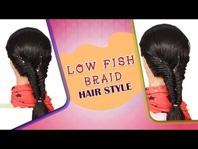 Low Fish Braid HairStyle - Do it Yourself   KhoobSurati.com
