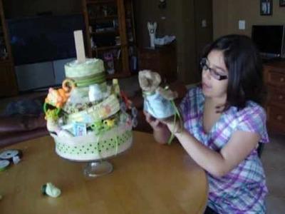 Making a Diaper Cake
