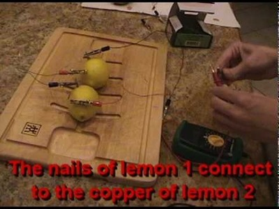 Making a  Lemon Battery Light an LED -  Full How-To