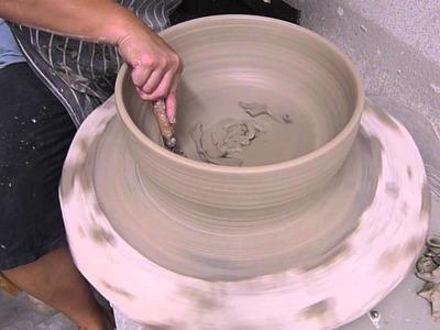 Making a mosaic basin part 1 - Clay Craft Malaysia
