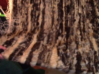 Making A Raw Wool Rug On A Hand Loom