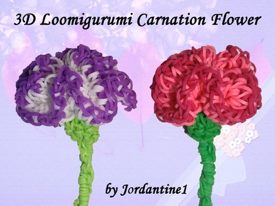 New 3D Loomigurumi Carnation Flower - Mother's Day - Rainbow Loom - Hook Only - Spring