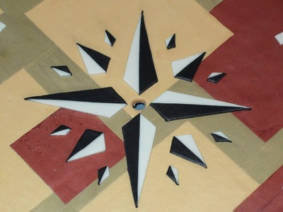 Polymer clay Clock craft! Part.4) Compass, star,emblem.  whatever you call it lol