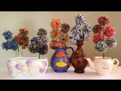 Pom pom woolen flower bouquet